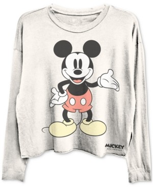 Disney Cropped Mickey Mouse Long Sleeve Graphic T-shirt