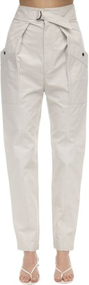 Etoile Isabel Marant Zilyae High Waist Canvas Cargo Pants