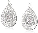 Jessica Simpson Baroque Bohemia Silver Teardrop Earrings