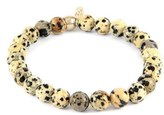 Men's Mr. Ettika Dalmatian Jasper Bead Bracelet