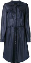 Giorgio Armani drawstring shirt dress - women - Polyamide - 40