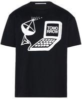 Stella McCartney black tomorrow print t-shirt