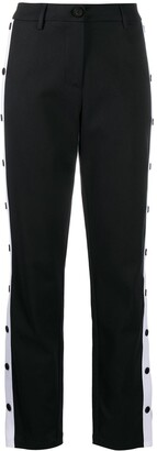 Love Moschino Side Snap-Button Trousers