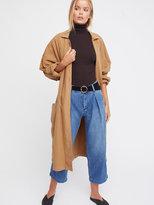 Free People Pleated Denim Trouser