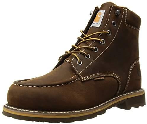 a6d6a266592 Men's 6-Inch Brown Lug Bottom Moc Work Boot - Soft Toe, -CMW6197