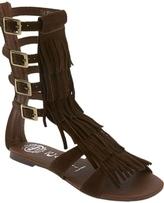 Jeffrey Campbell - Brown Top Fringe Sandals