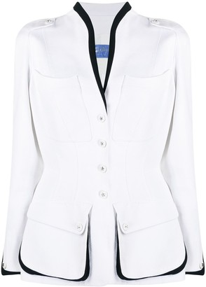 Thierry Mugler Pre-Owned Single-Breasted Fitted Jacket