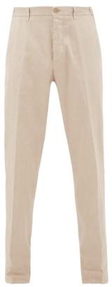 Altea Garment-dyed Slim-leg Linen-blend Chinos - Beige