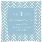 The Well Appointed House Chelsea Blue Personalized Birth Announcement Decoupage Plate-Available in a Variety of Sizes