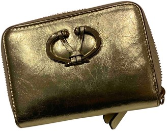 Valentino Gold Leather Purses, wallets & cases