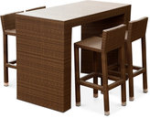 Heather Outdoor Wicker 5-Pc. Dining Bar Set, Quick Ship