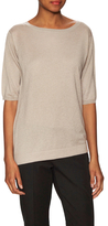 Max Mara Glamour Silk Ribbed Slant Sweater