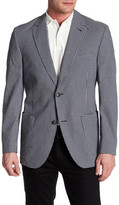 Kroon Bono Grey Check Two Button Notch Lapel Coat