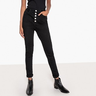 """La Redoute Collections Buttoned High Waist Jeggings, Length 32"""""""