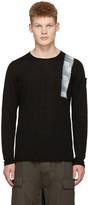 Isabel Benenato Black Hand Painted Sweater
