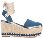 Tory Burch espadrille wedges - women - Cotton/Leather/rubber - 36