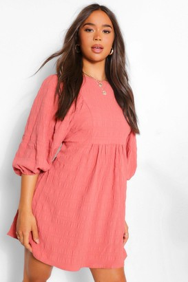 boohoo Puff Sleeve Skater Dress