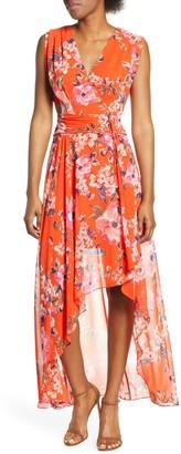 Brinker & Eliza Floral High/Low Maxi Dress (Regular & Petite)