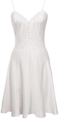 Not Just Pajama Classic Women Silk Chemise Dress Wedding Dress- White