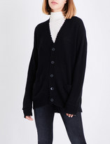 R 13 Distressed cashmere cardigan