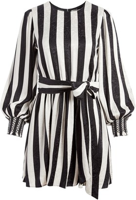 Alice + Olivia Estefana striped mini dress