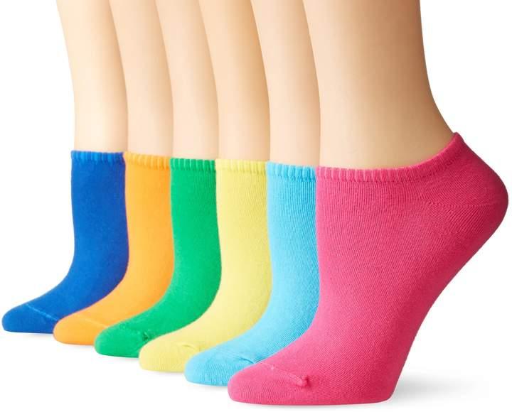 Hue Women's Cotton Liner Sock 6-Pack