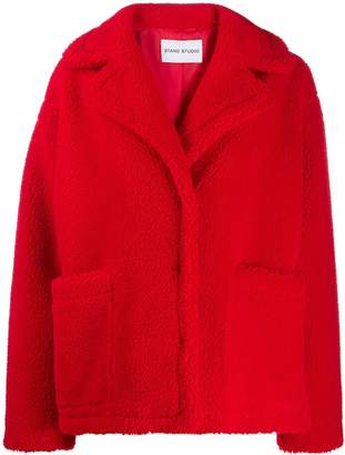 STAND STUDIO oversized teddy bear jacket