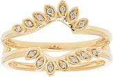MODERN BRIDE Womens Diamond Accent White Diamond 14K Gold Ring Enhancer