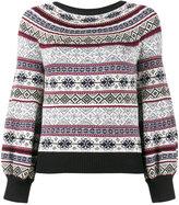 Alexander McQueen puffed sleeve jacquard jumper - women - Cotton/Silk/Wool - XS