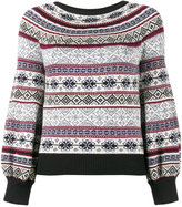 Alexander McQueen puffed sleeve jacquard jumper - women - Silk/Cotton/Wool - XS