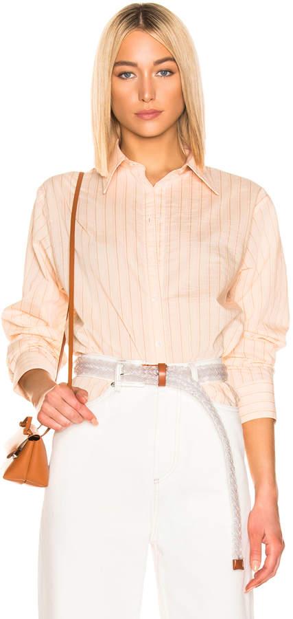 Acne Studios Selma Shirt in Beige & Pink | FWRD