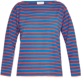 Saint Laurent Breton-stripe cotton-jersey top