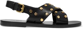 Isabel Marant Jane Studded Leather Slingback Sandals