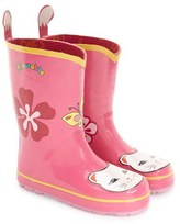 Kidorable Girl's 'Cat' Waterproof Rain Boot
