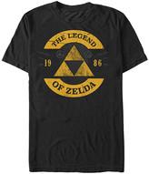 Fifth Sun Men's Tee Shirts BLACK - Legend of Zelda Black Half Circle Tee - Men