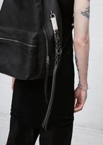 Rick Owens black small braid keychain