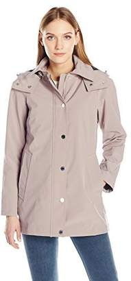 Calvin Klein Women's Soft Shell Single Breasted Rain Trench Coat with Mesh Lining