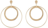 Natasha Accessories 2 Layer Large Hoop Earrings