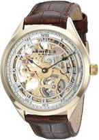 Akribos XXIV Amazon Exclusive Men's AK802YG Mechanical Hand Wind Brown Watch