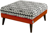 Thumbnail for your product : Orla Kiely Flynn Footstool - Glyde Tomato/Sixties Stem Charcoal