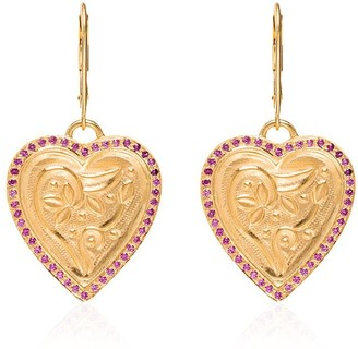 Ileana Makri Heart Pendant Earrings