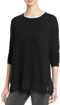 Aqua Cashmere Oversize Fringed Cashmere Sweater