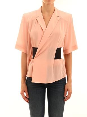 Balenciaga Wrap Front Blouse