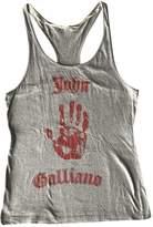 John Galliano Grey Cotton Top for Women