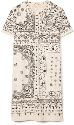 Tory Burch Bandana-Print T-Shirt Dress