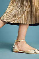 Lola Cruz Star-Embellished Ballet Flats