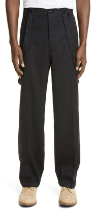 Visvim Jumbo Pastoral Wool & Linen Suspender Pants