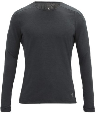 On Long-sleeved Stretch-jersey Top - Black