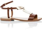 See by Chloé Metal Plate Flat Sandal (Anita)
