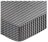 SheetWorld Fitted Pack N Play Sheet - Gingham Check - Made In USA - 29.5 inches x 42 inches (74.9 cm x 106.7 cm)